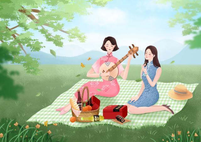 摄图网_401549355_女性养生插画之阿胶(企业商用).jpg