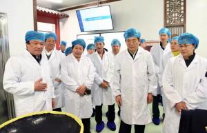 国家中医药管理局局长于文明到宏济堂制药集团调研