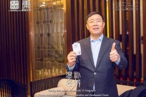 蛹虫草阿胶低聚肽新品发布,东阿阿胶总裁秦玉峰现场接受采访