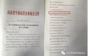 东方阿胶获评山东推进非公党建工作突出贡献单位